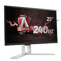 """AOC Monitores AG251FZ - Monitor de 25"""" (resolución 1920 x 1080 pixels, tecnología WLED, contraste 1000:1, 1 ms, USB 3.0), color negro y rojo"""
