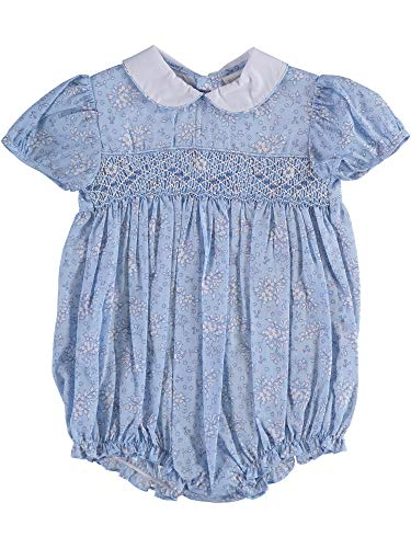 Carriage Boutique Baby Girl Bubble - Blue Floral