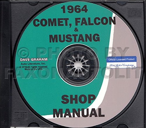 1964 Ford Shop Manual CD Mustang Ranchero Falcon Repair