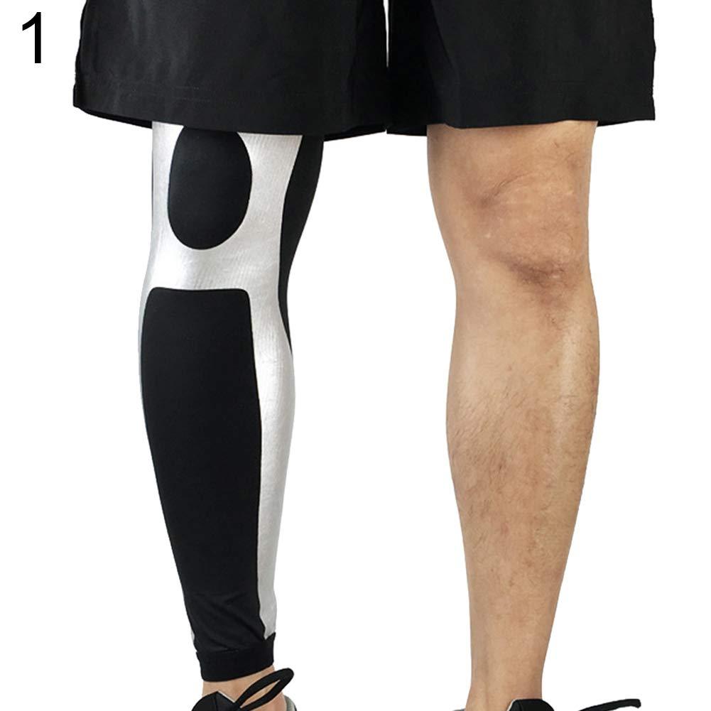 jEZmiSy 1 Calentadores de compresión piernas Antideslizante para Deporte de Baloncesto Unisex Super elástico
