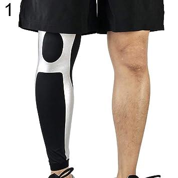 jEZmiSy 1 Calentadores de compresión piernas Antideslizante para ...