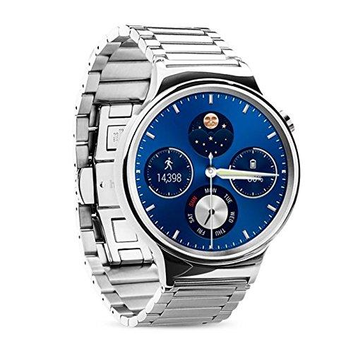 HUAWEI WATCH Correa - HOCO Repuesto Acero Inoxidable Malla Correa De Reloj Para Huawei Elegante Reloj 42mm: Amazon.es: Relojes