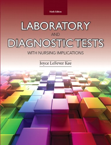 Laboratory and Diagnostic Tests with Nursing Implications (9th Edition)