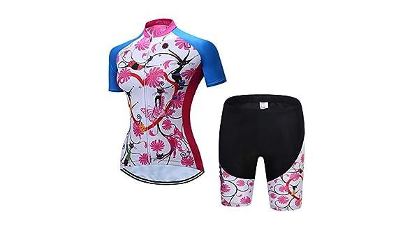 Maillot Ciclismo Mujer Cclismo Conjunto de Ropa Culote Pantalones ...