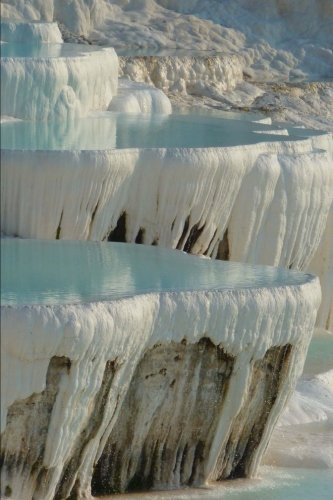 Awesome Terraced Mineral Hot Spring Pools in Pamukkale Turkey Journal: 150 Page Lined Notebook/Diary