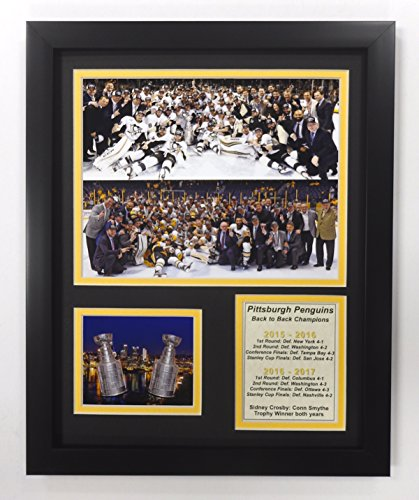 Pittsburgh Penguins Framed Photos - 2016-2017 Pittsburgh Penguins - Back to Back Stanley Cup Champions - Framed 12