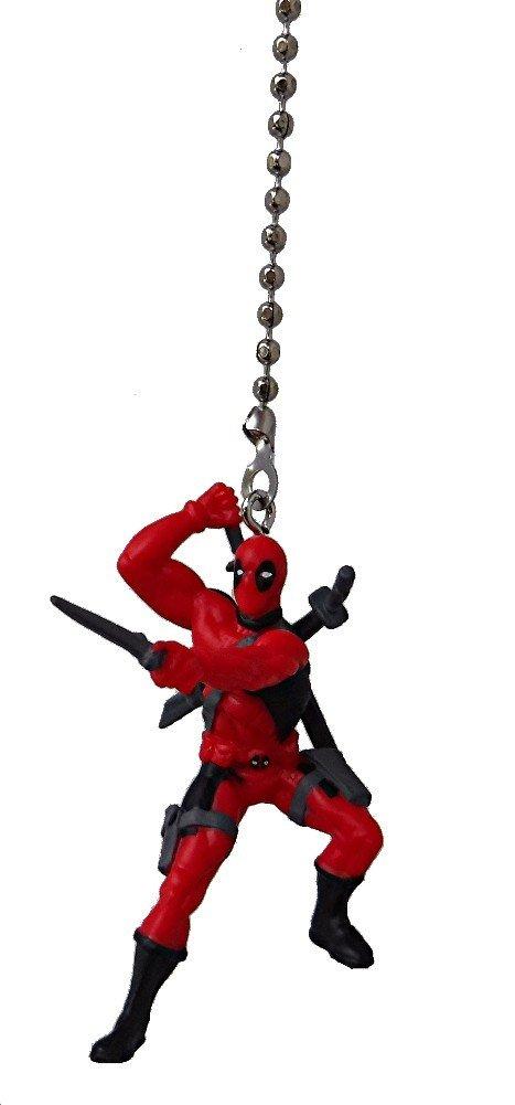 DC & Marvel comics SUPER HERO superhero character Ceiling FAN PULL light chain (Deadpool)