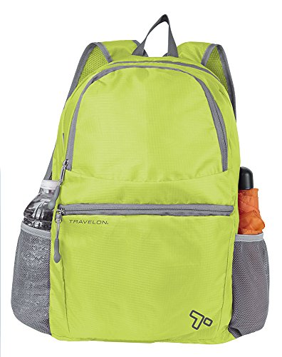 Travelon Packable Multi-Pocket Backpack, Lime