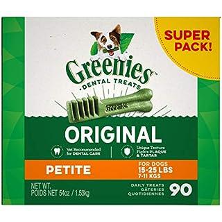 GREENIES Original Petite Natural Dental Care Dog Treats, 54 oz. Pack (90 Treats)