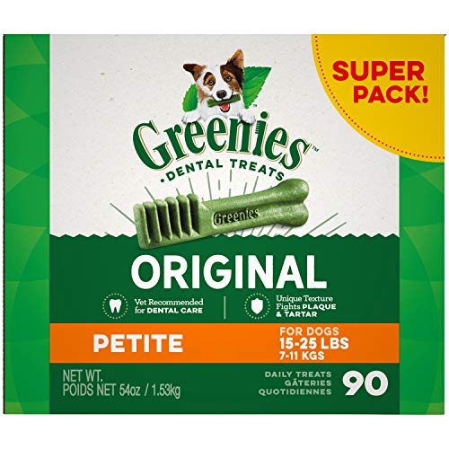 Greenies Original Petite Natural Dental Dog Treats, 54 oz. Pack