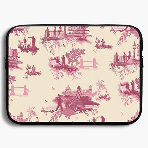 Homlife Laptop Sleeve Bag London Toile Seamless Graphics 13/15 Inch Briefcase Sleeve Bags Cover Notebook Case Waterproof Portable Messenger Bags Beatles Rubber Soul Skin