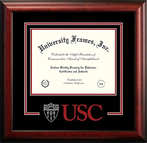 Campus Images NCAA USC Trojans Spirit Diploma Frame, 8.5 x 11, Mahogany
