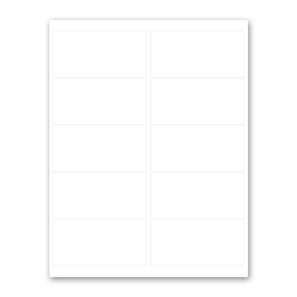 PDC Healthcare DPSL2-4-M Label Laser, Paper Permanent, 2'', 4'' x 2'', 10 per Sheet, White (Pack of 1000)