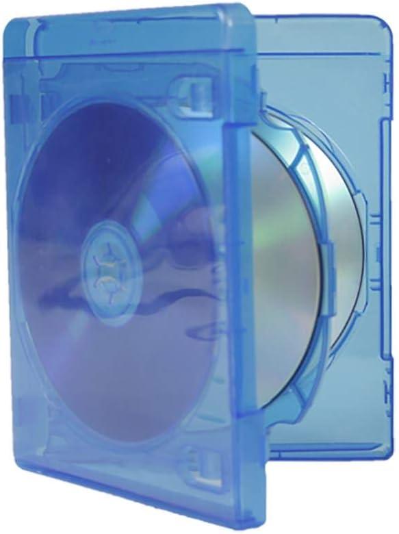MediaRange BOX38-4-30 Caja transparente para CD 4discos Azul ...