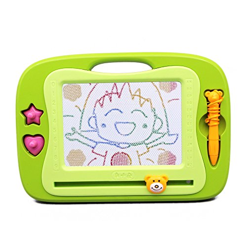 Happytime Magnetic Scribbler Board Writer Drawing Erasable Toy with 3 Magic Stampers(random Color)