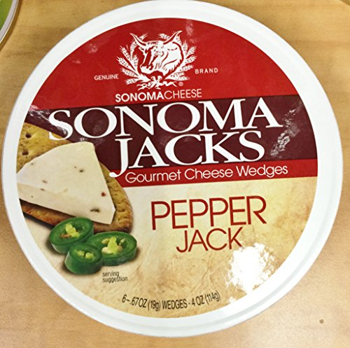(4oz Sonoma Jacks Gourmet Cheese Wedges Pepper Jack by Dairy Food (One Unit))