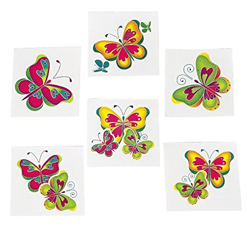 Kids Temporary Butterfly Tattoos - 72 ()