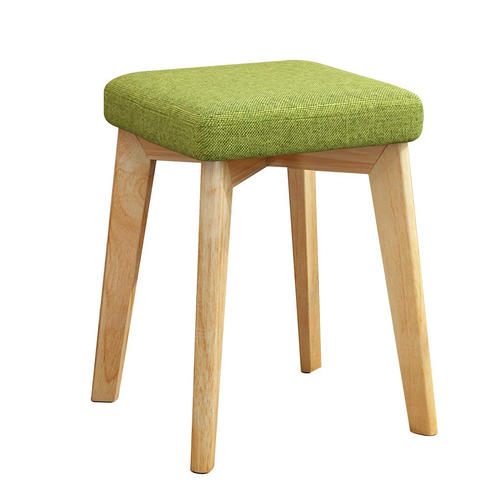 CFJRB 小さい正方形の腰掛け、台所食堂のための現代純木の化粧スツール (色 : Color#3) B07QJXYVWT Color#3