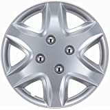 """Drive Accessories KT-958-14S/L, Honda Civic, 14"""" Silver Replica Wheel Cover, (Set of 4)"""
