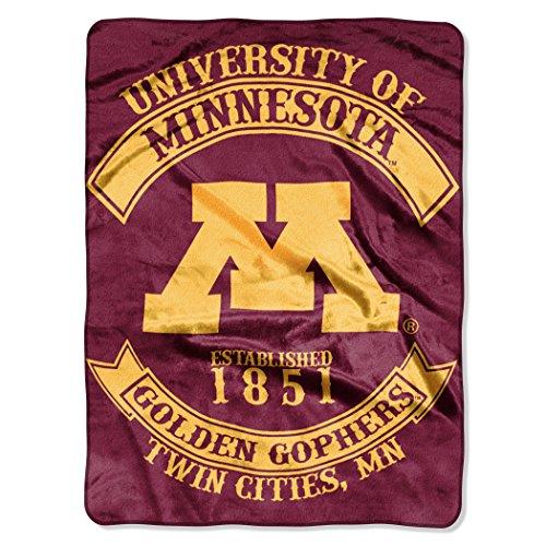 Officially Licensed NCAA Minnesota Golden Gophers Rebel Plush Raschel Throw Blanket, 60