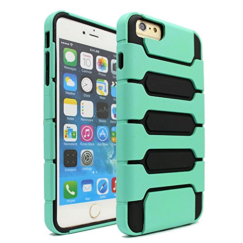 iPhone 6 Plus Case, Areion® Hybrid Soft TPU Hard Plastic Heavy Duty Armor Case Cover For iPhone 6 Plus Mint