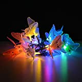 IMAGE® Butterfly Solar String Lights Decorative Multi-color Beautiful Animal Design Light 20 Led for Garden, Lawn, Patio, Wedding, Party, Bedroom, Outdoor DecorationBrainytrade