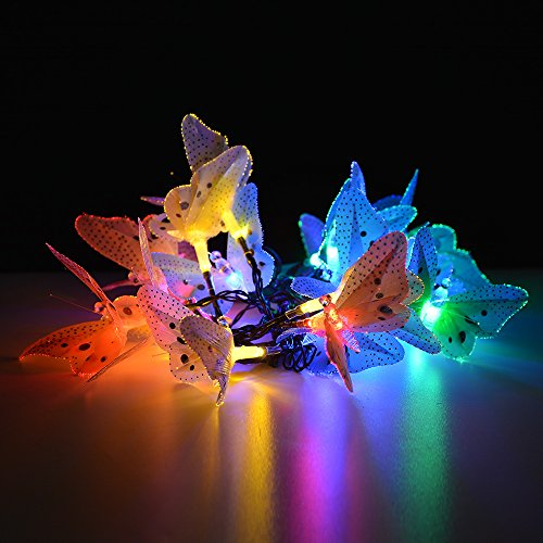 IMAGE® Butterfly Solar String Lights Decorative Multi-color - Import ...