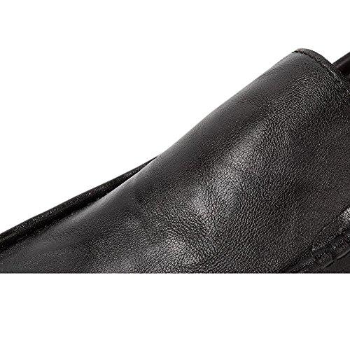 Buona Piatto New Xinvision Guida Scarpe Moda Uomo Classiche di Mocassino Nero 08dw87q