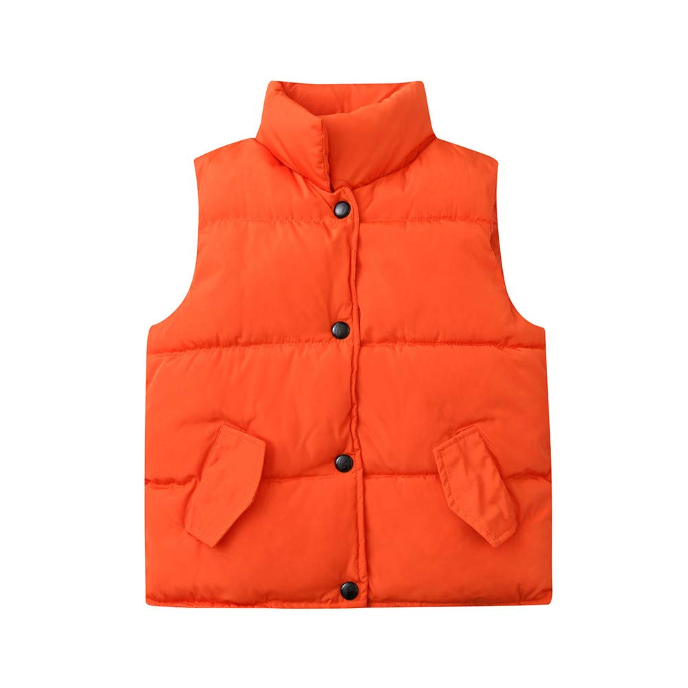 Dream/_mimi Unisex Childrens Sleeveless Winter Warm Solid Color Jacket Vest