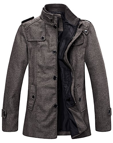 Wantdo Men's Winter Wool Outwear Coats US Small Coffee US Small Coffee