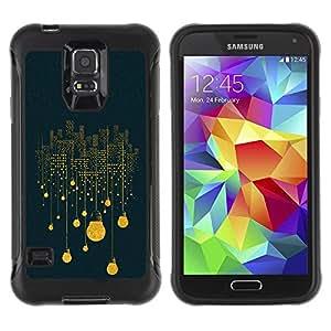 Paccase / Suave TPU GEL Caso Carcasa de Protección Funda para - Lights Idea Blue Symbolism Deep - Samsung Galaxy S5 SM-G900