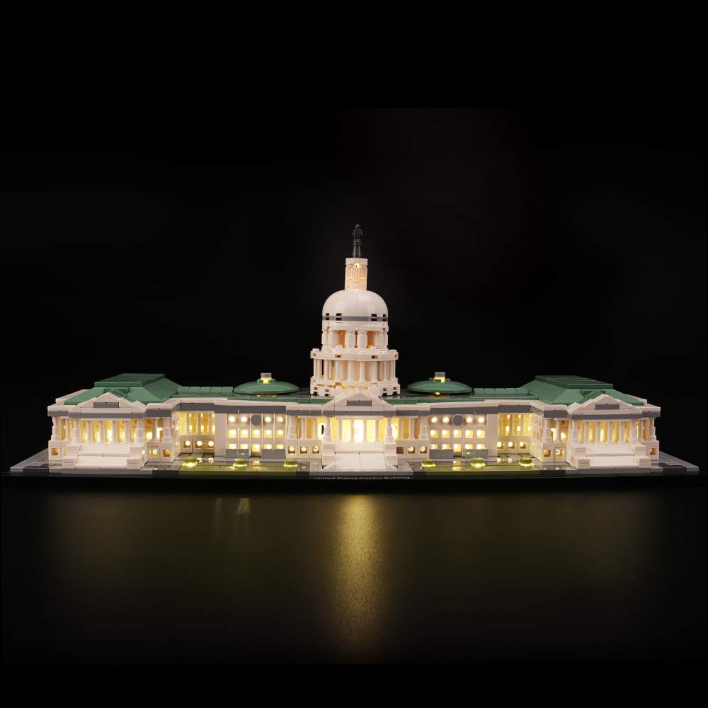 LIGHTAILING Light Set for (Architecture United States Capitol Building) Building Blocks Model - Led Light kit Compatible with Lego 21030(NOT Included The Model)
