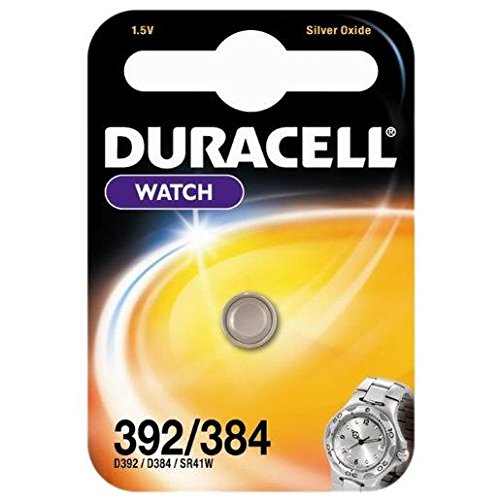 Duracell 392/384 1.5V Silver Oxide watch battery SR41 D384/392 SR41W V384 V392