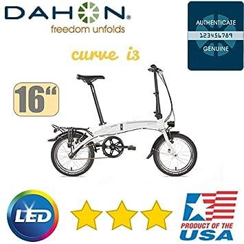 Dahon bicicleta plegable Curve i3 Cloud/3gang/16zoll/Deluxe Versión Luz
