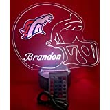Denver Broncos NFL Light Up Lamp LED Personalized Free Football Light Up Light Lamp LED Table Lamp, Our Newest Feature - Its WOW, With Remote, 16 Color Options, Dimmer, Free Engraved, Great Gift