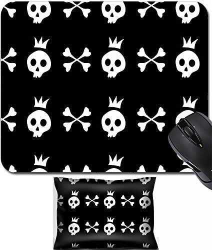 (MSD Mouse Wrist Rest and Small Mousepad Set, 2pc Wrist Support design: 9727413 illustration of original halloween text made from)