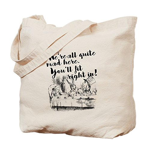 CafePress Alice In Wonderland Natural Canvas Tote Bag, Cloth Shopping Bag