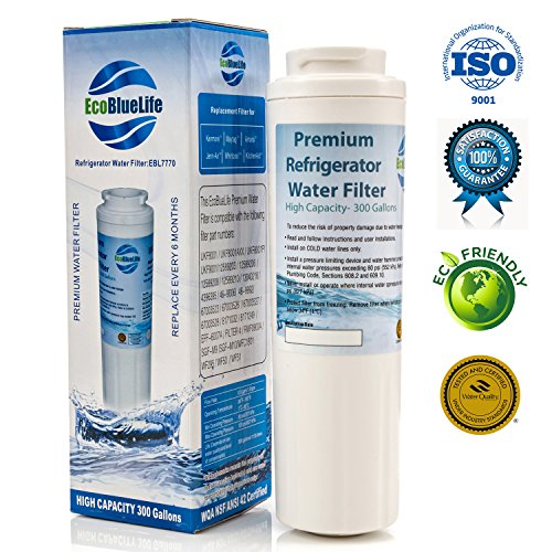 EcoBlueLife Water Filter, Compatible with Maytag UKF8001, EDR4RXD1, Pur Filter4, Kenmore 46-9005, Viking RWFFR and certain models of Whirlpool, Amana, KitchenAid, and Bosch, 1 pack