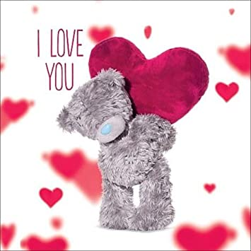 Great 3D Holographic I Love You Me To You Bear Valentines Day Card