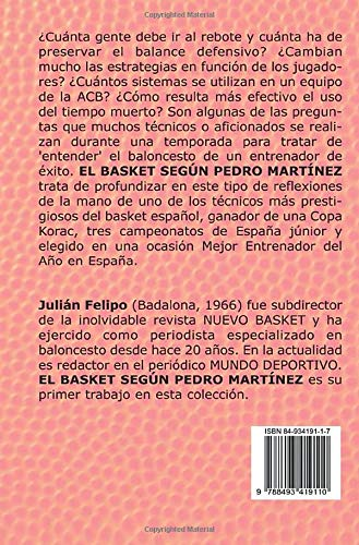 El basket según Pedro Martínez (Spanish Edition): Julián ...