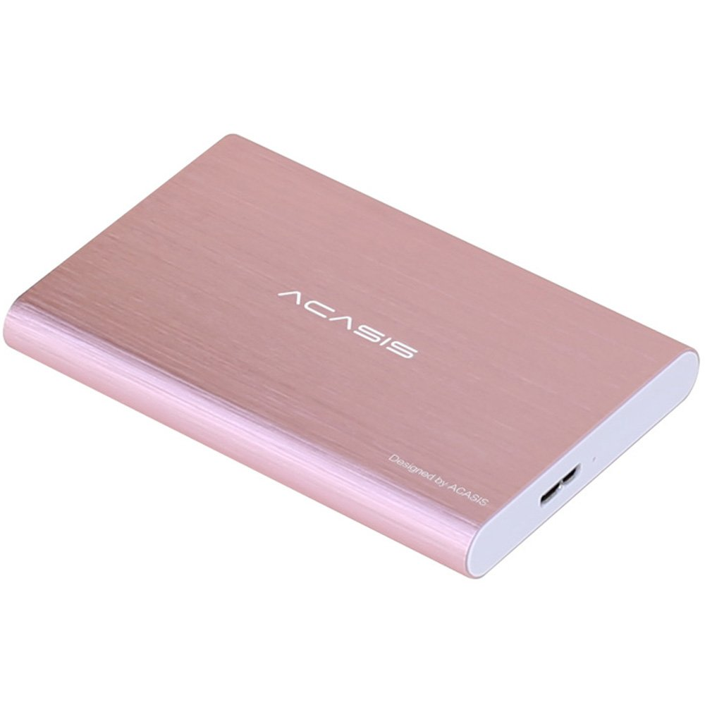 HDD 2.5'' 120GB Portable External Hard Drive USB3.0 Hard Disk Storage Devices Desktop Laptop (Pink)