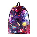 School Bag for Boys Girls Pattern Outdoor Kids Backpack Bookbag Travleing Rucksack (E)
