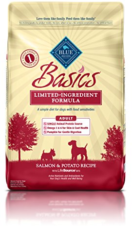BLUE Basics Limited Ingredient Diet Adult Salmon & Potato Dry Dog Food 24-lb