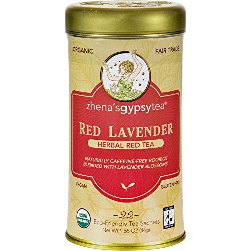 ZHENA'S GYPSY TEA TEA,OG2,RED LAVENDER, 22 BAG