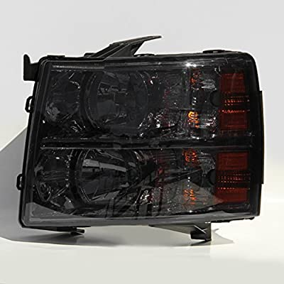 Smoke Smoked 07-13 Chevy Silverado Pickup Truck Headlights Front Lamps Replacement Left + Right