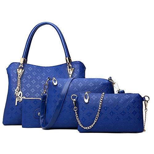 3fc67759c0c5 Clearance!! 4 Pcs Womens Bags SFE Women Four Set Handbag Shoulder ...
