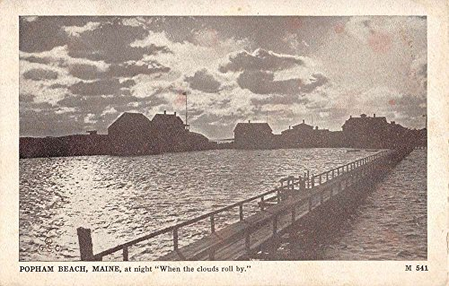 Popham Beach Maine Waterfront At Night Antique Postcard - Waterfront At Stores