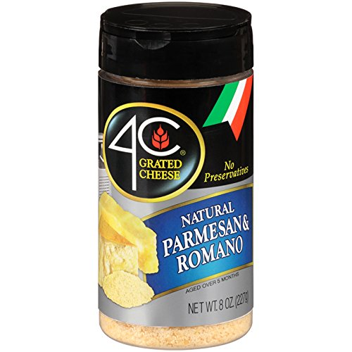4C Parmesan/Romano Grated Cheese 8 oz. (Pack of 3)