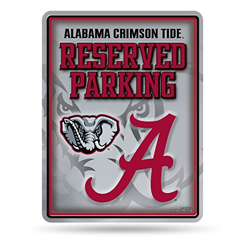 (NCAA Alabama Crimson Tide 8-Inch by 11-Inch Metal Parking Sign Décor)