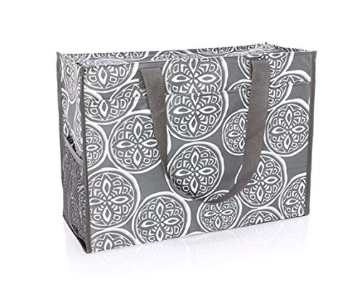 Deluxe Organizing Utility Tote In Woodblock Whimsy